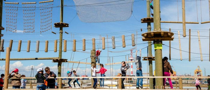 веревочный парк в Кронштадте
